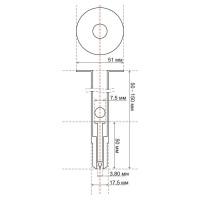 Дюбель для теплоизоляции 120 мм (1000 шт) под газовый пистолет [BWD 120-60-52]
